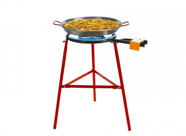 COMPLETE SET paella brander 50cm met standaard & paella pan 60cm met paella