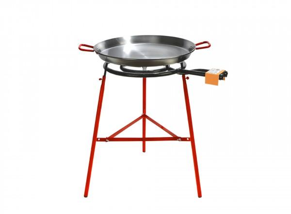 COMPLETE SET paella brander 50cm met standaard & paella pan 60cm