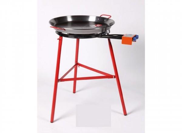 COMPLETE SET paella brander 60cm met standaard & paella pan 70cm met paellapan