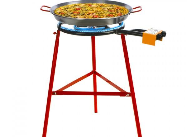 COMPLETE SET paella brander 40cm met standaard & paella pan 50cm met paella