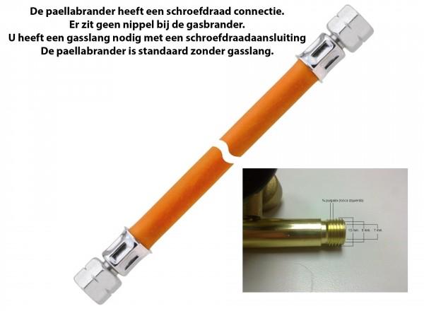 Paella brander 40 cm & Standaard voor buiten (3 losse poten) gasslang