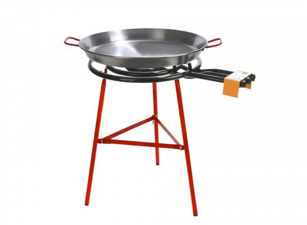 Paella brander 60 cm & Standaard voor buiten (gekoppelde poten) brander met pan