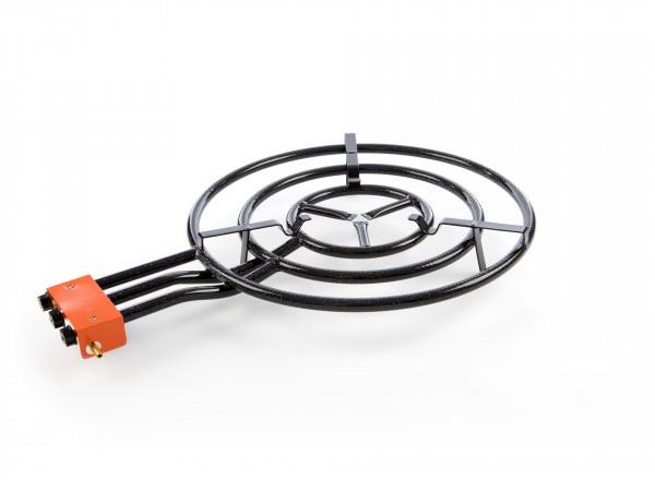 Paella brander 70 cm & Standaard voor buiten (gekoppelde poten) brander 3 ringen