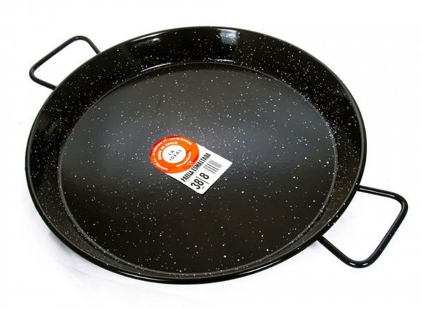 Paella pan emaille 50 cm - 12-14 pers. geemailleerd