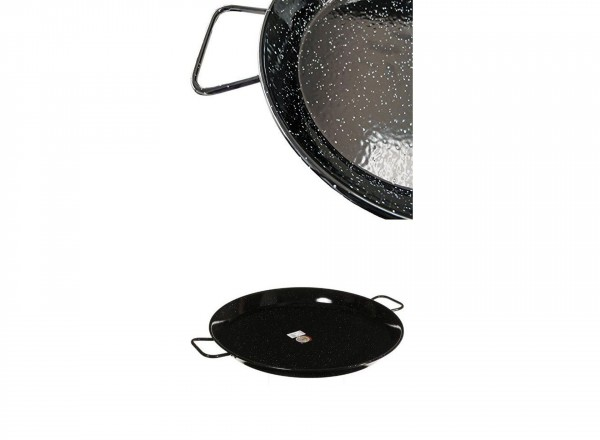 Paella pan emaille 50 cm - 12-14 pers. detail