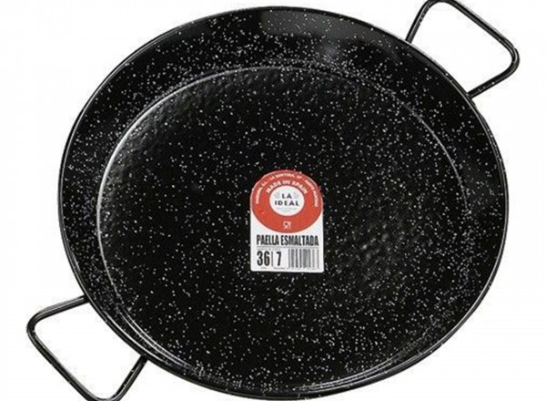 Paella pan emaille 50 cm - 12-14 personen