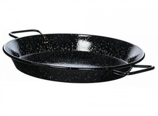 Paella pan emaille 50 cm - 12-14 pers. vanaf de zijkant