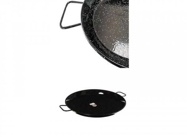 Paella pan emaille 70 cm - 30 pers. met handvat