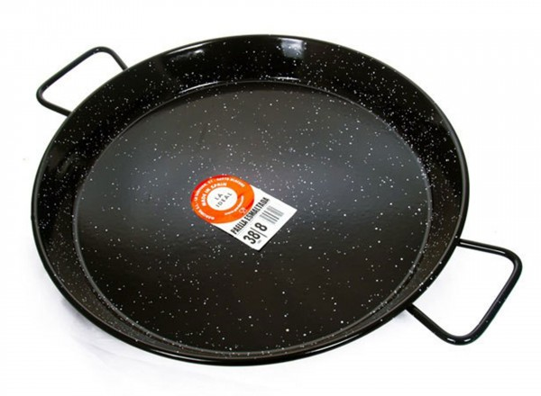 Paella pan emaille 80 cm - 40 pers. zwart