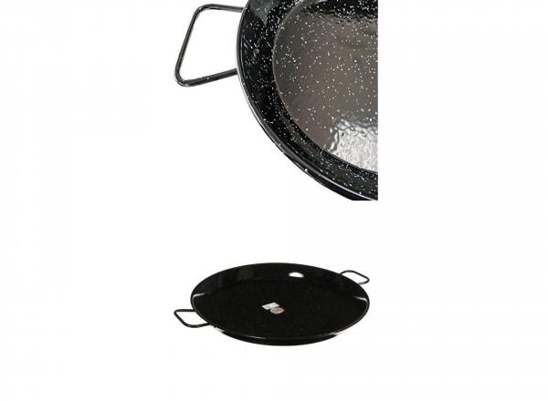 Paella pan emaille 80 cm - 40 pers. met handvat