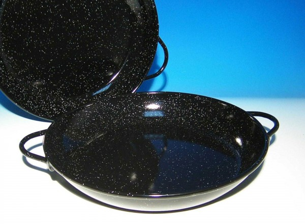 Paella pan emaille 40 cm 8-12 pers. geemailleerd
