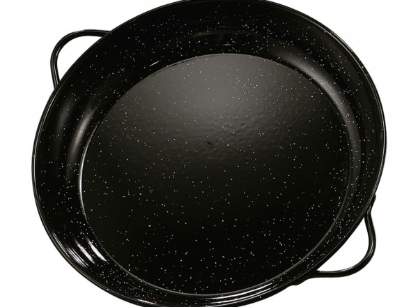 Paella pan emaille 40 cm  8-12 pers.