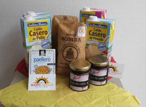 Compleet pakket paella ingredienten