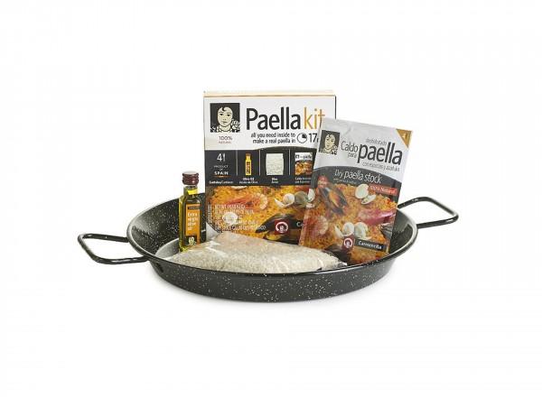 Paella kit inclusief paella pan emaillen - 4 porties | Carmencita