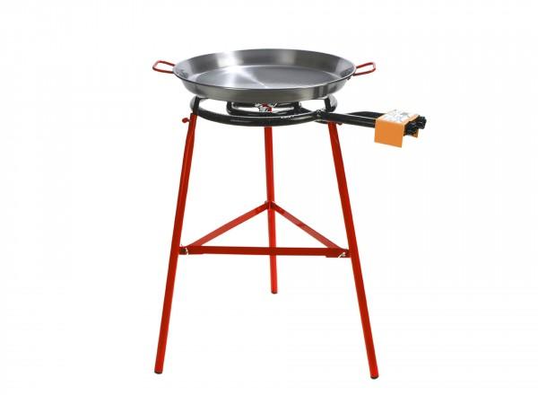 COMPLETE SET paella brander 40cm met standaard & paella pan 50cm